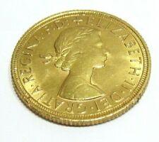 Goldmünze Großbritannien England, Elizabeth II, Sovereign 1958, im Blister