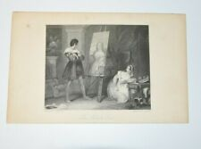 THE ARTIST'S LOVE Engraving Print Stephanoff W CHEVALIER