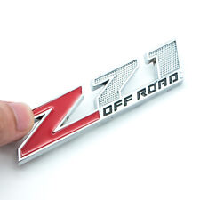 3D Silver Metal Z71 Off-Road Rear Trunk Emblem 4x4 Badge For GMC Chevy Silverado