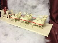 Vintage Santa Sleigh Reindeer Celluloid Vintage Christmas