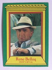 Indiana Jones Raiders Of The Lost Ark Topps 1981 Card 4 Rene Belloq Indy's Rival