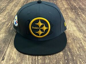 Pittsburgh Steelers Gray/Black New Era NFL Football Hat - 7 1/4
