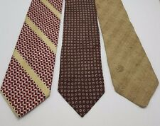 Vintage 1970s neckties Ties Lot 3 Polo Christian Dior Johnny Miller Beige 70s