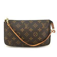100% Auth Louis Vuitton Monogram Pochette Accessories Pouch Hand Bag /10015