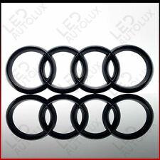 Black Gloss Front Grille Badge Rings Logo Emblem Audi A3 A4 A5 A6 Sline 273x94