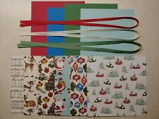 **Stampin Up- HOME FOR CHRISTMAS DSP Card KIT, 6x6 Dsp, Ribbon, CARDSTOCK Sheets