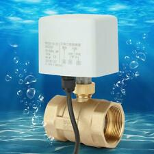 DN40 2-Way 3-Wire Brass Motorized Ball Valve Electric Valve For AC 220V