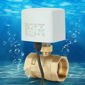 DN40 2-Way 3-Wire Brass Motorized Ball Valve Electric Valve For AC 220V SL