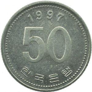 COIN / SOUTH KOREA / 50 WON 1997   #WT26453