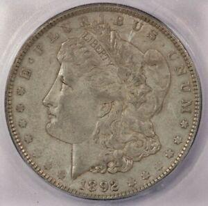 1892-P 1892 Morgan Silver Dollar ICG AU58