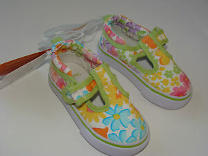 Butterfly Blossoms Girls Gymboree Canvas Sneakers Tennis Shoes Size 04 4 NEW