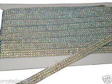3mtr 2strip AB CLEAR hotfix REEL rhinestone crystal