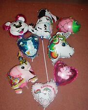 50 Assorted Ready Inflated Mini Foil Balloons Girl/Boys