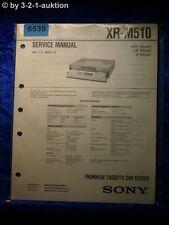 Sony Service Manual XR M510 Car Stereo (#6539)