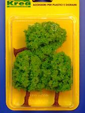 Alberi da giardino per modellismo verde primavera 3 pz. H.cm. 9  HO - 1/87 Krea