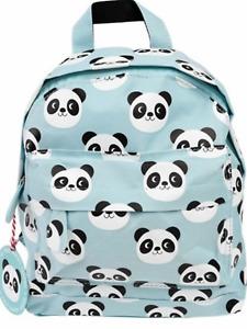 Panda bear blue rucksack backpack girls boy school nursery shopping gift present