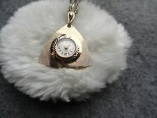 Pretty Caravelle Wind Up Necklace Pendant Watch