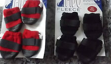 NEW PREMIER FIDO SOFT FLEECE BOOTIES DOG PUPPY BOOTS SHOES PAW PROTECTORS CHOICE