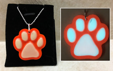 DISCOUNT - PAW Print GLOW in the DARK CUTE Charm Pendant Necklace Pet Cat Dog