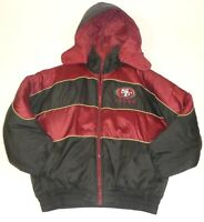 Large Pro Player NFL Reversible San Francisco 49ers Mens Winter Hooded Jacket