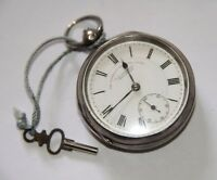 J. G. GRAVES POCKET WATCH. SILVER AND PORCELAIN. WORKS. SHEFFIELD. EARLY 20th C.
