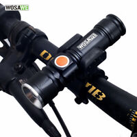 Bike Front Head light Cycling LED Lamp Flashlight USB Rechargeable MTB light