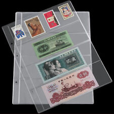 1 Sheet Album Pages 4 Pockets Money Bill Note Currency Holder PVC Collection CN