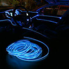 5M LED Car Interior Decor Atmosphere Wire Strip Blue Light Lamp Accessories