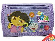 Dora The Explorer & Boots Girls Purple Children's Tri-Fold Wallet - New