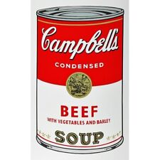 ANDY WARHOL CAMPBELLS' BEEF SOUP CAN SUNDAY B. MORNING SILKSCREEN EDITION