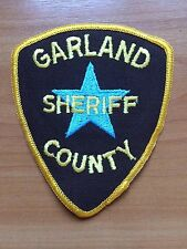 PATCH POLICE SHERIFF GARLAND COUNTY ARKANSAS STATE