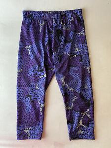 Jordan girls athletic capri pants purple pattern size 10/12