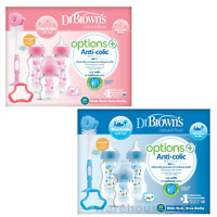 Dr Brown's Options PLUS+ Gift Set, Pink or Blue - Fast Delivery