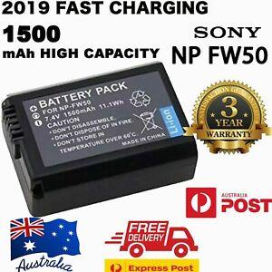 1500mAh NP-FW50 Battery for SONY Alpha A5000 A5100 A6000 A6300 A6500 etc OZ
