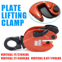 Industrial Vertical Plate Lifting Clamp WLL 0.8T / 1T / 2T Safe Heavy Duty Lift