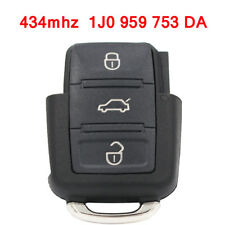3 Button FLIP KEY REMOTE FOB Transmitter for VW SKODA Seat 434MHz 1J0 959 753 DA