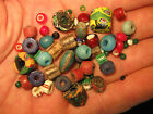 Antique African Trade Beads, 1800's, Italian Glass Collectible, Venetian Etc.