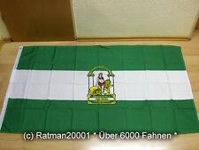 Fahnen Flagge Spanien Andalusien Sonderposten - 90 x 150 cm