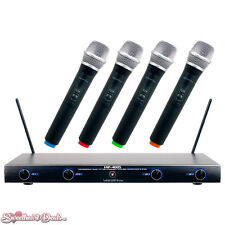 VocoPro VHF-4005 Four Channel Rechargeable VHF Wireless Microphone System