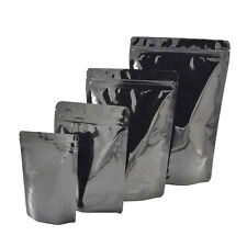 Black Aluminum Foil Mylar Self Seal Stand Up Bags Pouches Food Coffee Package