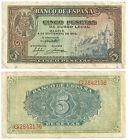 BILLETE DE 5 PESETAS 1940 (MBC) (SERIE G)