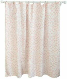 PILLOWFORT SHOWER CURTAIN PINK FLORALS PINK SMOOTHIE