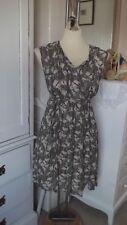 Masai Butterfly Print Tunic Dress Size M fits 12/14 Summer Lagen Layering Style