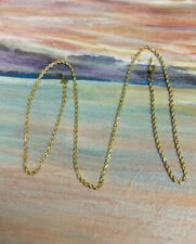 Solid Rope 14K Yellow Gold Necklace, 18 inch, 5.3 grams,