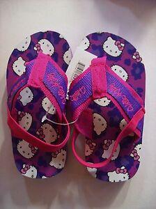Hello Kitty Sandals Flip Flops Thongs Girls Sizes 5/6 7/8 Purple Pink NWT