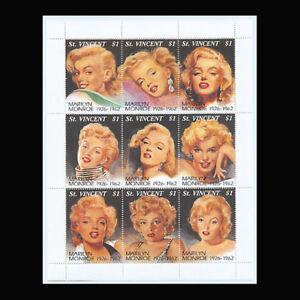 St Vincent, Sc #2055, MNH, 1994, S/S, Marilyn Monroe, Entertainment, FDDD-D