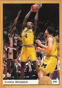 CHRIS WEBBER 1993 Classic PROMO card #PR1 Michigan Wolverines Basketball NR MT