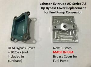 Johnson Evinrude 7.5 Hp AD Series Outboard Bypass Cover With Fuel Pump Adapter