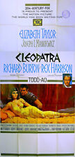 CLEOPATRA 1963 Elizabeth Taylor, Richard Burton, Rex Harrison US 3-SHEET POSTER