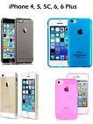 Case COLOR Iphone 4, 5, 5S, 5C, 6, 6+ cover case Apple silicone gel + 1 FILM